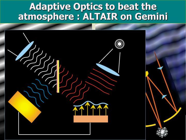 Adaptive Optics to beat the atmosphere : ALTAIR on Gemini