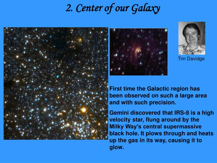 2. Center of our Galaxy