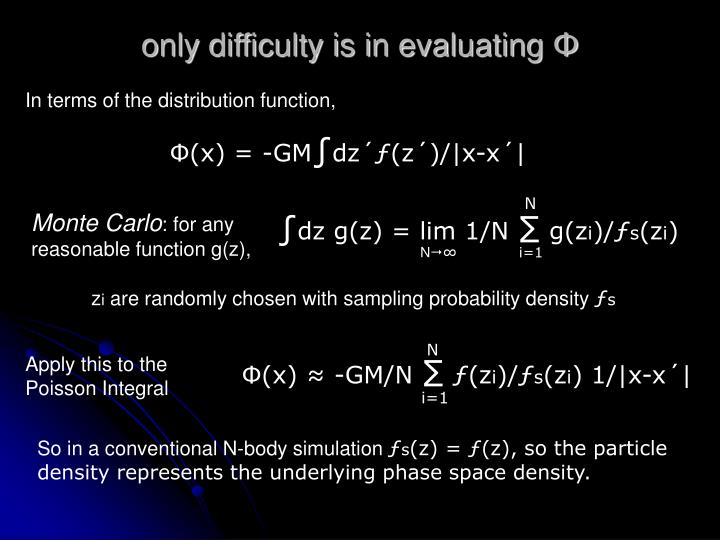 only difficulty is in evaluating