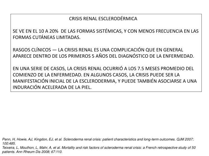 CRISIS RENAL ESCLERODÉRMICA