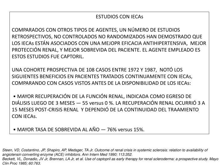ESTUDIOS CON IECAs
