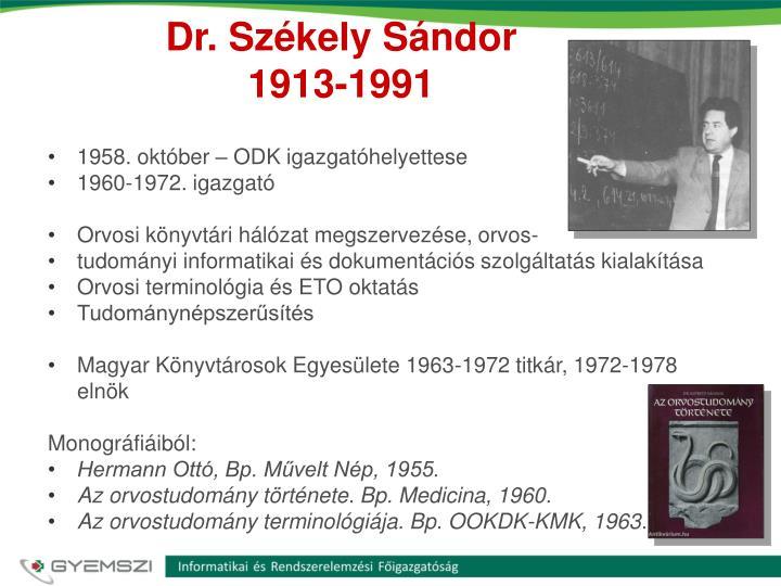 Dr. Székely Sándor