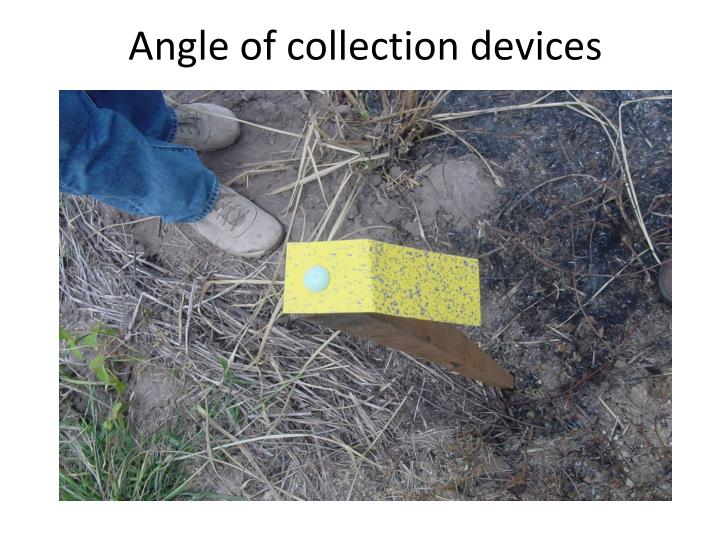 Angle of collection devices