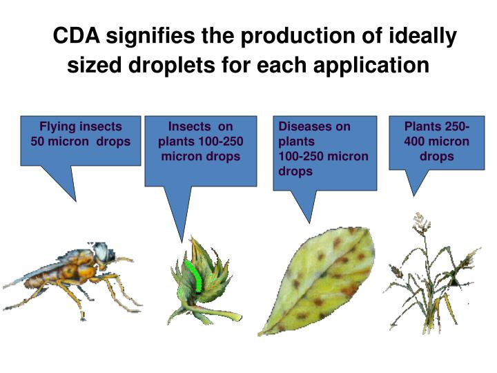 CDA signifies the production of ideally sized droplets for each application