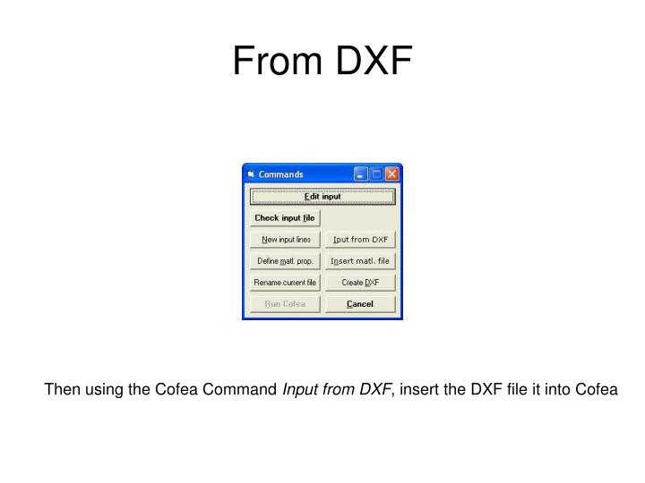 From DXF
