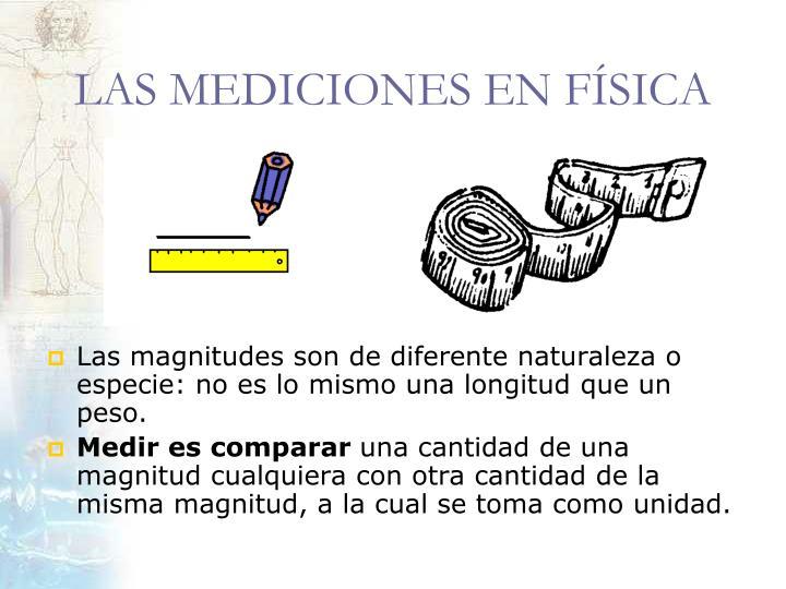 LAS MEDICIONES EN FÍSICA