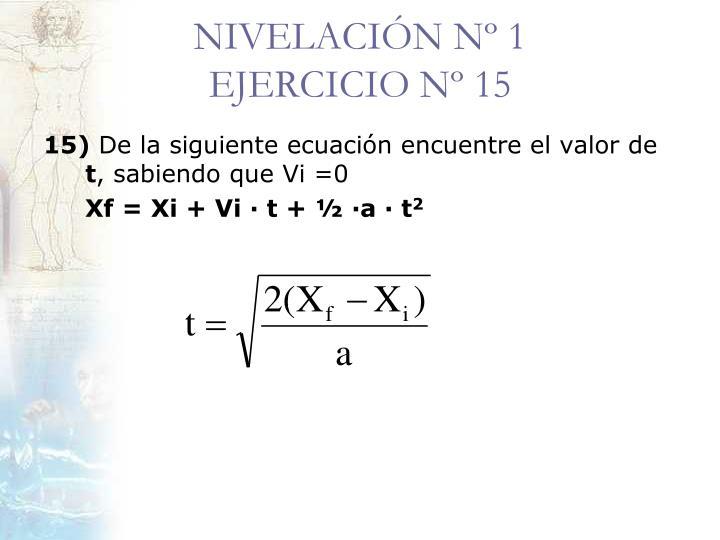 NIVELACIÓN Nº 1