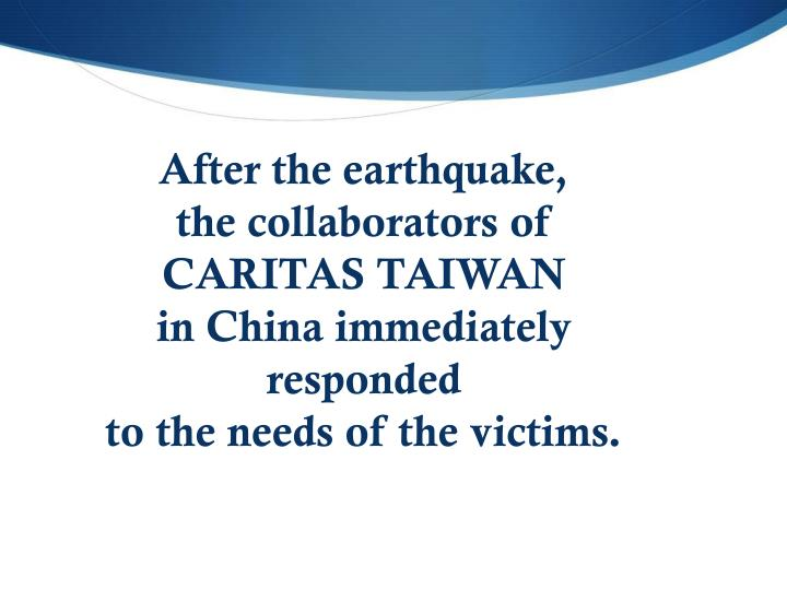 After the earthquake,