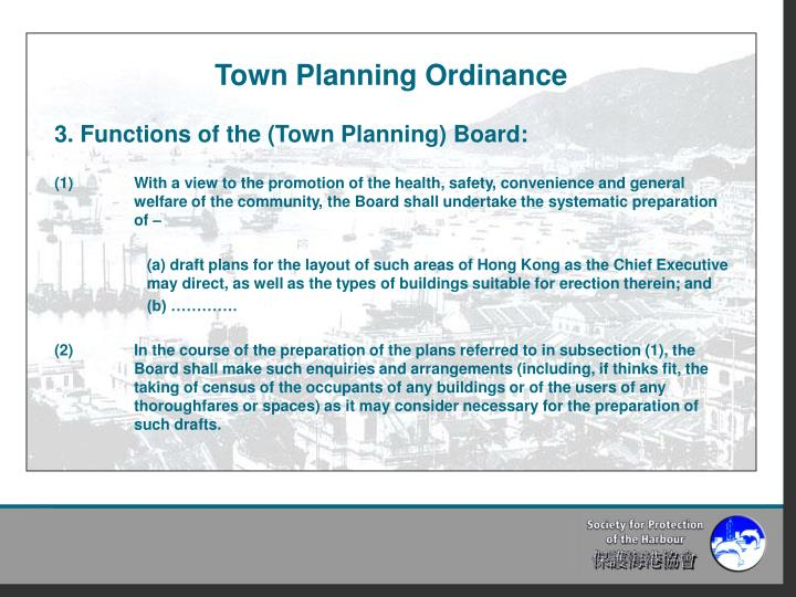 Town Planning Ordinance