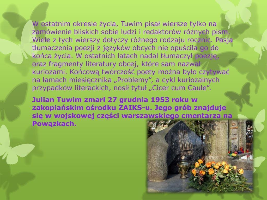 Ppt Kim Był Julian Tuwim Powerpoint Presentation Free