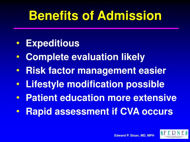 Benefits of Admission