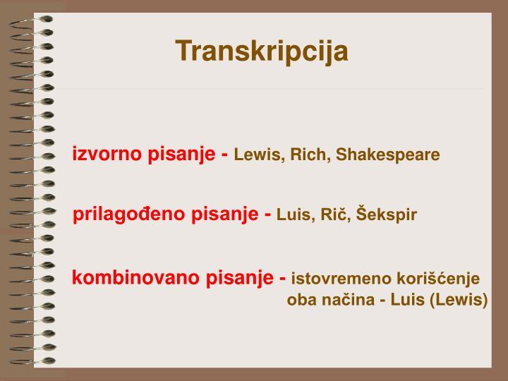Transkripcija