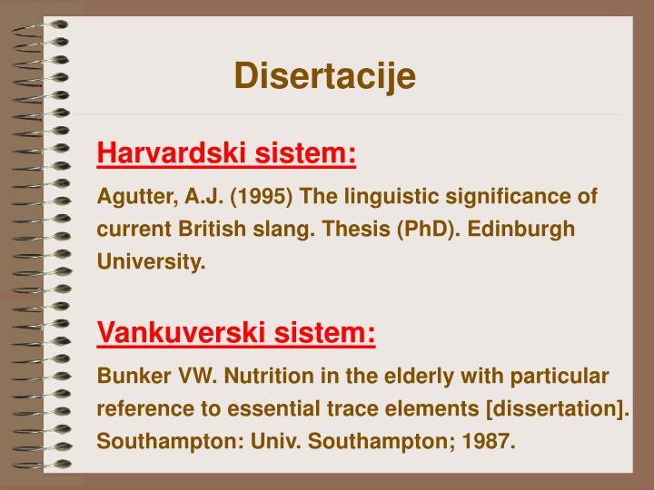 Disertacije