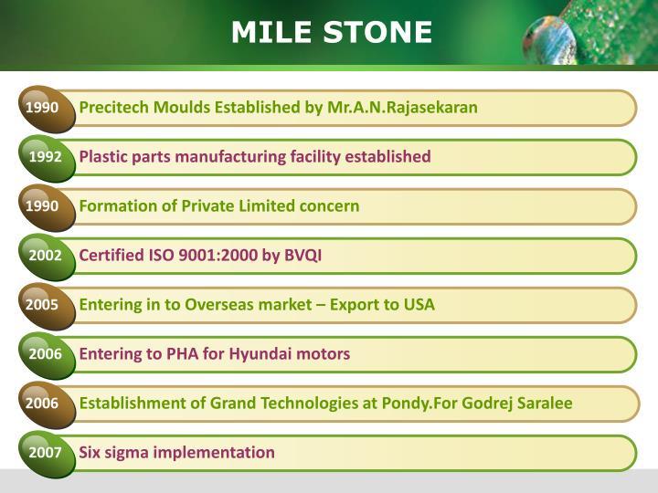 Precitech Moulds Established by Mr.A.N.Rajasekaran