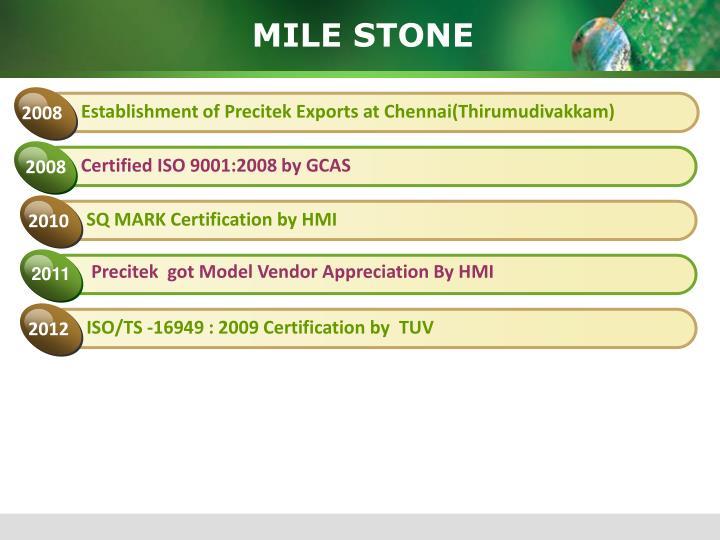 SQ MARK Certification by HMI