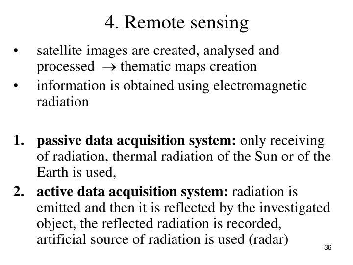 4. Remote sensing