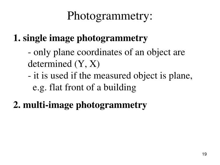 Photogrammetry: