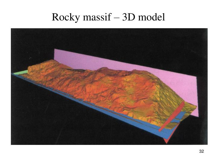 Rocky massif – 3D model