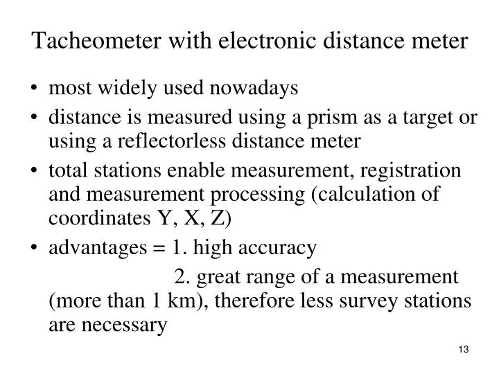Tacheometer with electronic distance meter