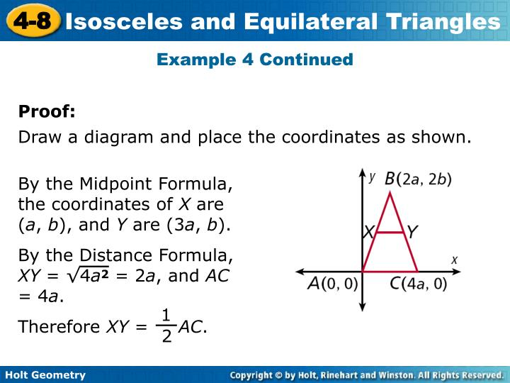 By the Midpoint Formula, the coordinates of