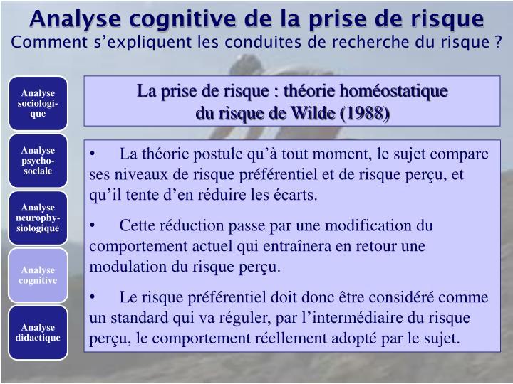 Analyse cognitive de la prise de risque