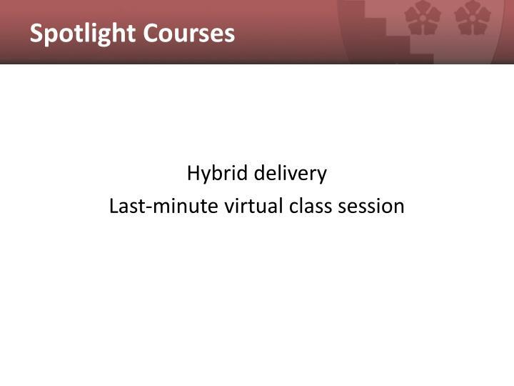 Spotlight Courses