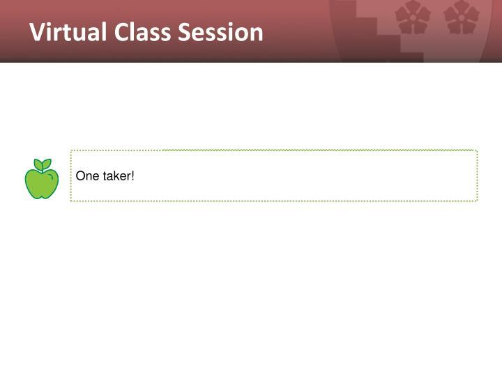 Virtual Class Session