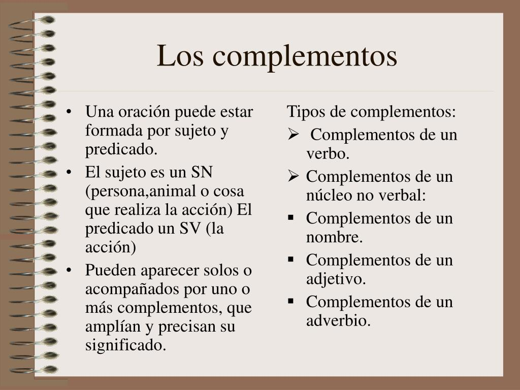 158f7e099704 PPT - Los complementos PowerPoint Presentation - ID 4846929