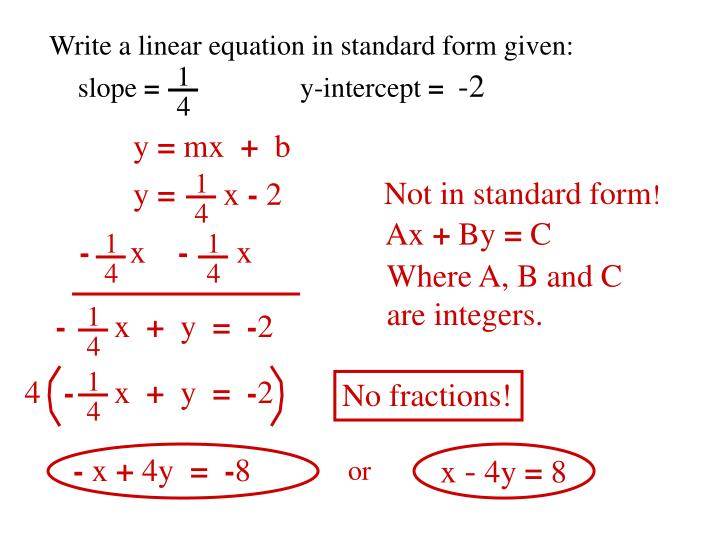 Ppt Objective To Write A Linear Equation Given A Point And A