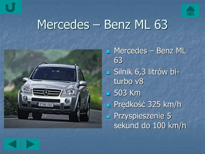 Mercedes – Benz ML 63