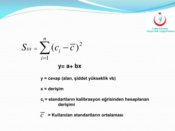 y= a+ bx