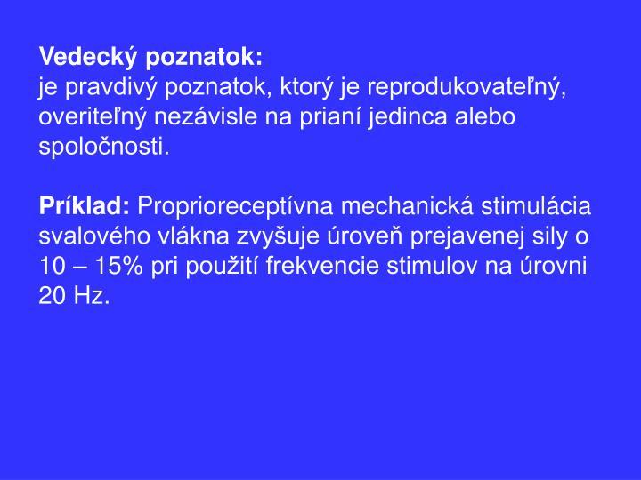 Vedecký poznatok: