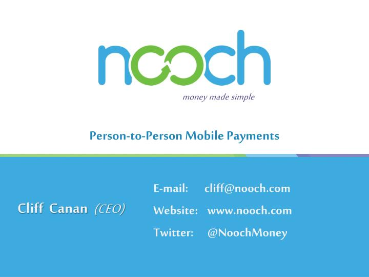 person to person mobile payments n.