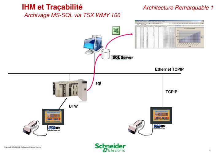 IHM et Traçabilité