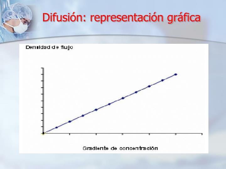 Difusión: representación gráfica