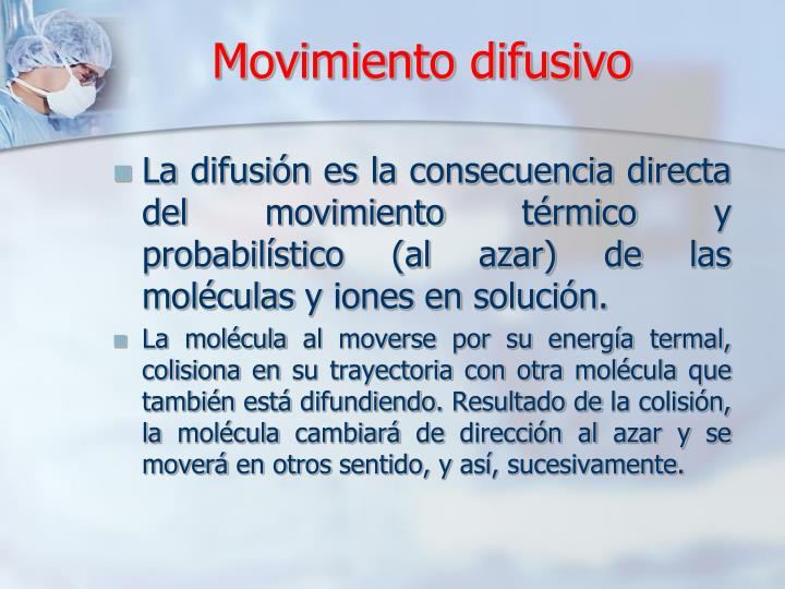 Movimiento difusivo
