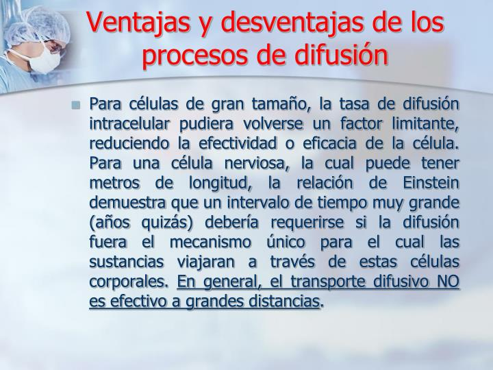 Ventajas y desventajas de los procesos de difusión