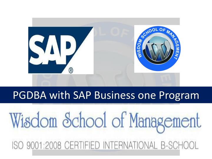 pgdba with sap business one program n.