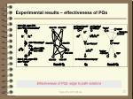 experimental results effectiveness of pqs
