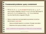 fundamental problems query containment