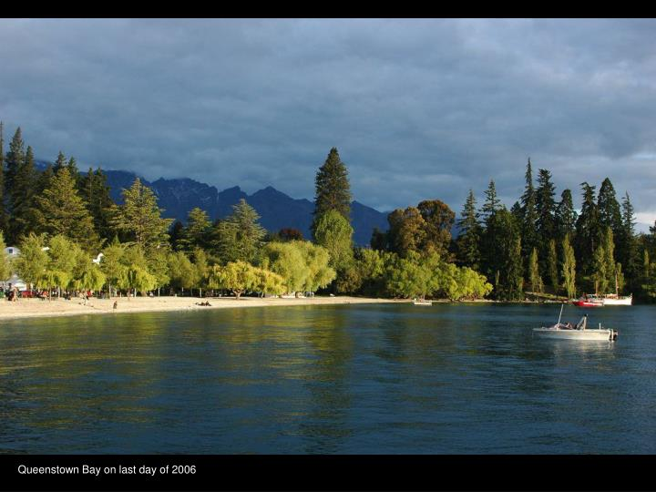 Queenstown Bay on last day of 2006