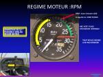 regime moteur rpm