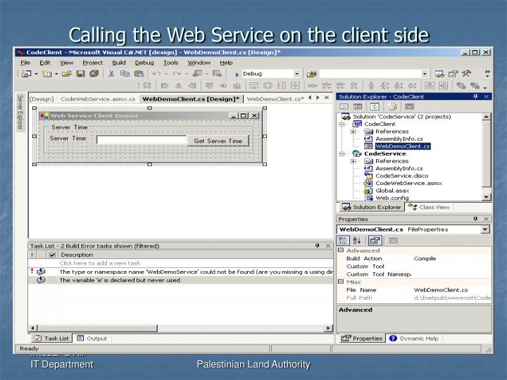 Calling the Web Service on the client side
