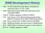 wam development history
