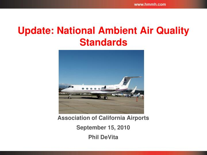 update national ambient air quality standards n.
