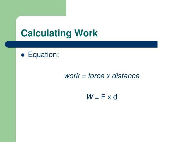Calculating Work