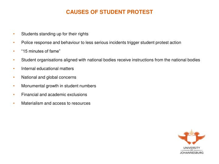 CAUSES OF STUDENT PROTEST