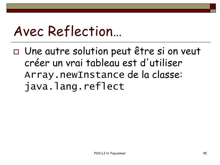 Avec Reflection…