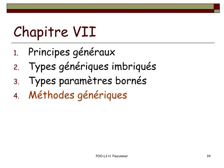 Chapitre VII
