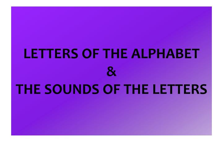 letters of the alphabet the sounds of the letters n.